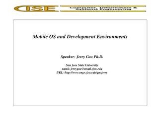 Mobile OS and Development Environments