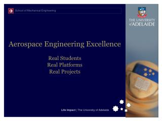 Aerospace Engineering Excellence Real Students Real Platforms Real Projects
