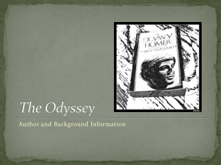 Background information on The Odyssey