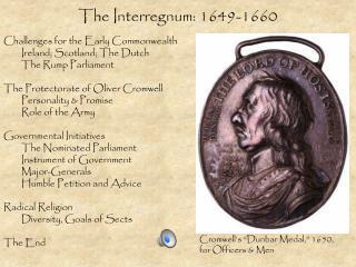 The Interregnum: 1649-1660
