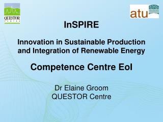 Dr Elaine Groom QUESTOR Centre