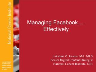 Managing Facebook…. Effectively