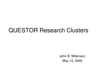 QUESTOR Research Clusters