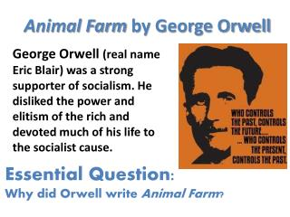 setting and characters of george orwells A brief summary and review for george orwell's 1949 classic novel, 1984.
