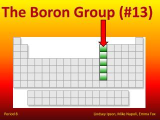The Boron Group (#13)