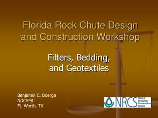Florida Rock Chute Design and Construction Workshop