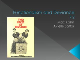 Functionalism and Deviance 7.2