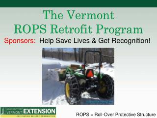 The Vermont ROPS Retrofit Program