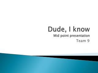 Dude, I know Mid point presentation