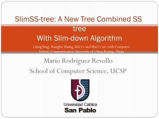 SlimSS -tree: A New Tree Combined SS -tree With Slim-down Algorithm