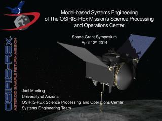 Space Grant Symposium  April 12 th 2014
