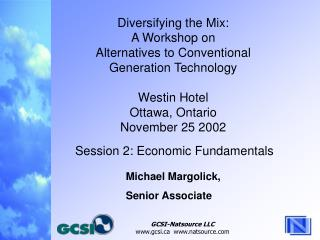 Diversifying the Mix: A Workshop on Alternatives to Conventional  Generation Technology