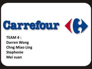 TEAM 4 : Darren Wong Chng  Miao Ling Stephenie Mei  suan