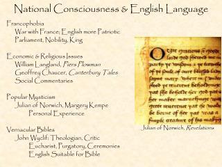 National Consciousness & English Language