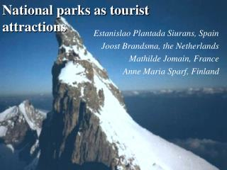 National parks as tourist attractions