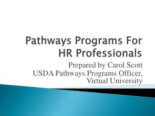 Pathways Programs For HR Professionals