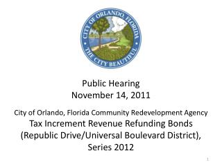 Republic Drive CRA Bonds, Series 2012