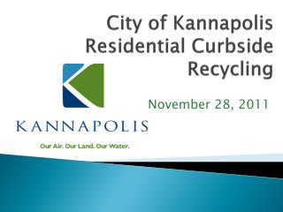 City of Kannapolis Residential Curbside Recycling