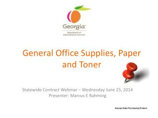General Office Supplies, Paper and Toner