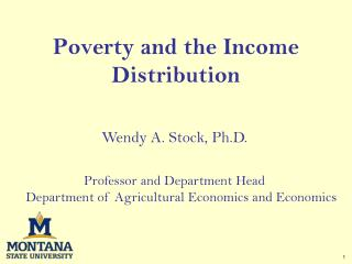 Poverty and the Income Distribution