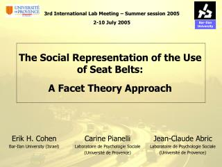 Carine Pianelli Laboratoire de Psychologie Sociale (Université de Provence)