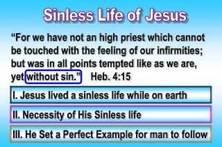 Sinless Life of Jesus