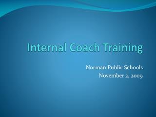 Internal Coach Training