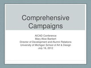 Comprehensive Campaigns