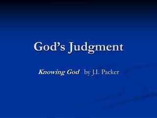 God's Judgment