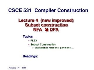 Lecture  9 NFA Subset Construction    Epsilon Transitions