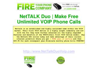 Nettalk Duo Voip Device