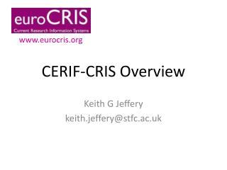 CERIF-CRIS Overview