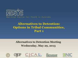 Alternatives to Detention: Options in Tribal Communities, Part 1