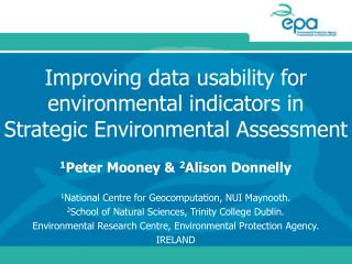 Improving data usability for environmental indicators in Strategic Environmental Assessment