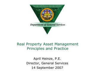 Real Property Asset Management Principles and Practice