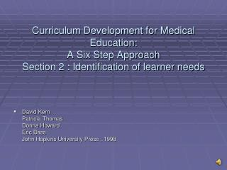 David Kern  Patricia Thomas  Donna Howard  Eric Bass  John Hopkins University Press , 1998