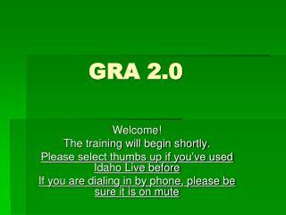 GRA 2.0