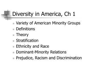 Diversity in America, Ch 1