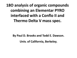 By Paul D. Brooks and Todd E. Dawson. Univ. of California, Berkeley.