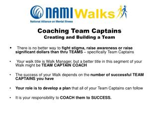 Coaching Team Captains Creating and Building a Team