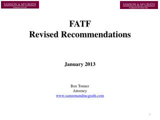 FATF  Revised Recommendations  January 2013