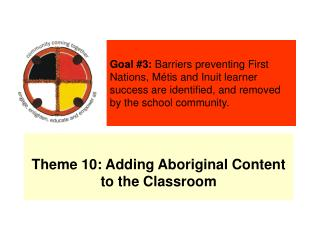 Theme 10: Adding Aboriginal Content to the Classroom