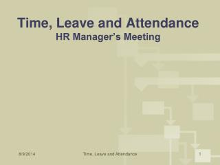 Time, Leave and Attendance HR Manager's Meeting