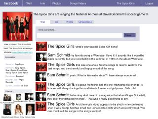 The Spice Girls are singing the National Anthem at David Beckham�s soccer game  ?