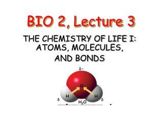 BIO 2, Lecture 3