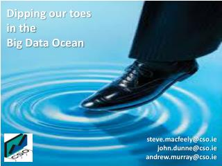 Dipping our toes  in the  Big Data Ocean