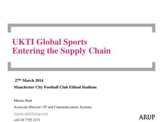 UKTI Global Sports Entering the Supply Chain