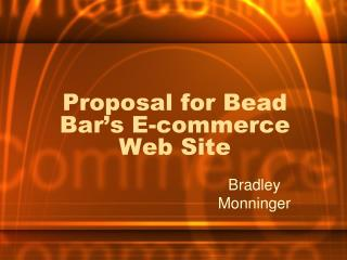 Proposal for Bead Bar's E-commerce Web Site