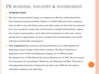 PR business, industry & government