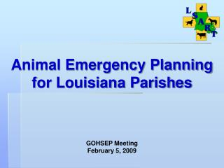 Animal Emergency Planning  for Louisiana Parishes